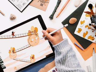 Children's book digital art illustraion character illustration digital