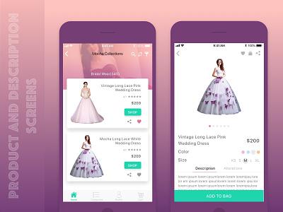 Product and product description screens iosapp descriptionscreen productscreen product women fashion fashion design app ios8 ios screens ladies