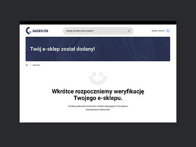 Galeria Cen - Success Message message web responsive grid ux ui