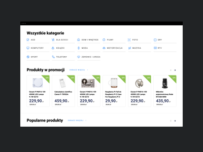 Galeria Cen - Home website web responsive grid ux ui products categories