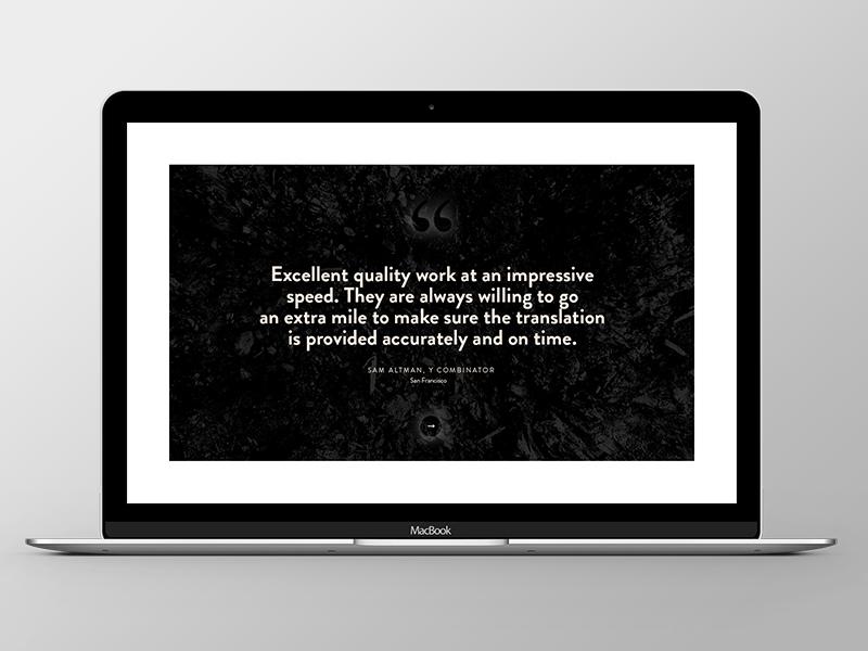 Werk and Woord Responsive Webiste quote grid ui ux company agency responsive website web