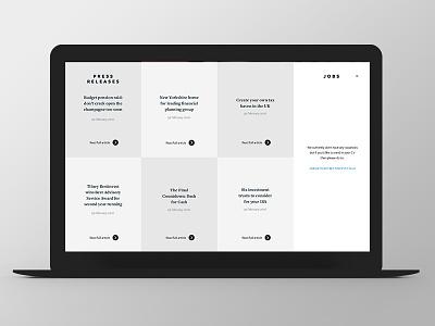 Tilney Bestinvest - Group Website Redesign redesign grey button finance grid news responsive ux ui