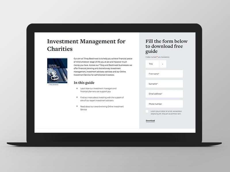 Tilney - Website Redesign download investment form redesign grid responsive ux ui