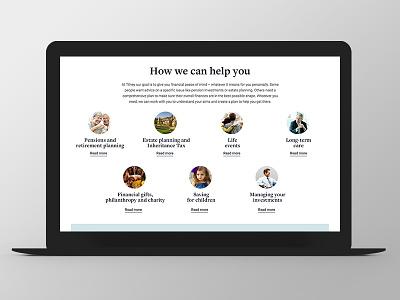 Tilney - Website Redesign circle ui ux responsive grid redesign