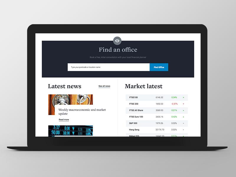 Tilney - Website Redesign news ui ux responsive grid redesign