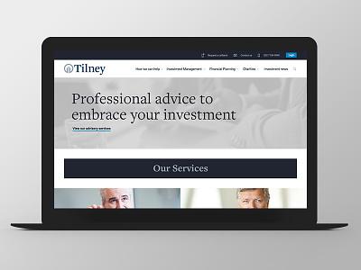 Tilney - Website Redesign finance redesign grid responsive ux ui