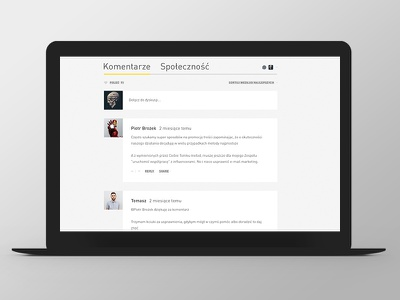 Marketing i Biznes Website Design comments website ux ui web