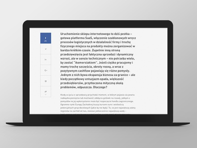 Marketing i Biznes Website Design article social website web responsive grid ux ui