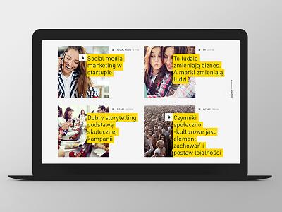 Marketing i Biznes Website Design website web responsive grid ux ui