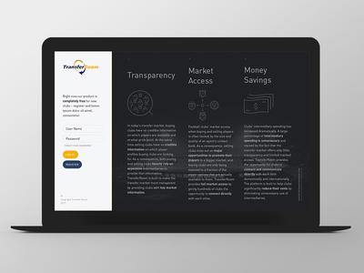 TransferRoom Second Line grid website responsive web ux ui