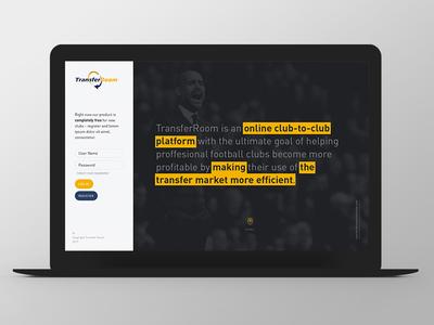 TransferRoom Second Line design website web responsive grid ux ui