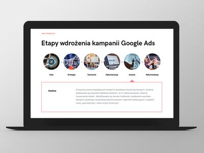LW steps google ads design website web responsive grid ux ui