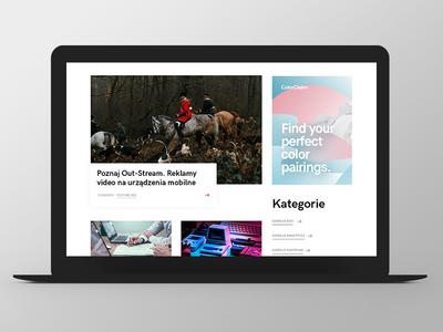 LW design button categories blog website web responsive grid ux ui