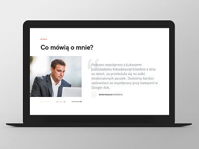 LW quote testimonials button design website web responsive grid ux ui