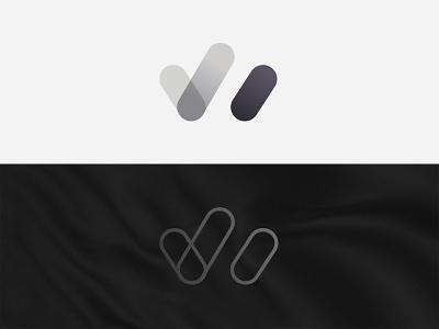 LW - logo sign outline shapes logotype branding design branding logo