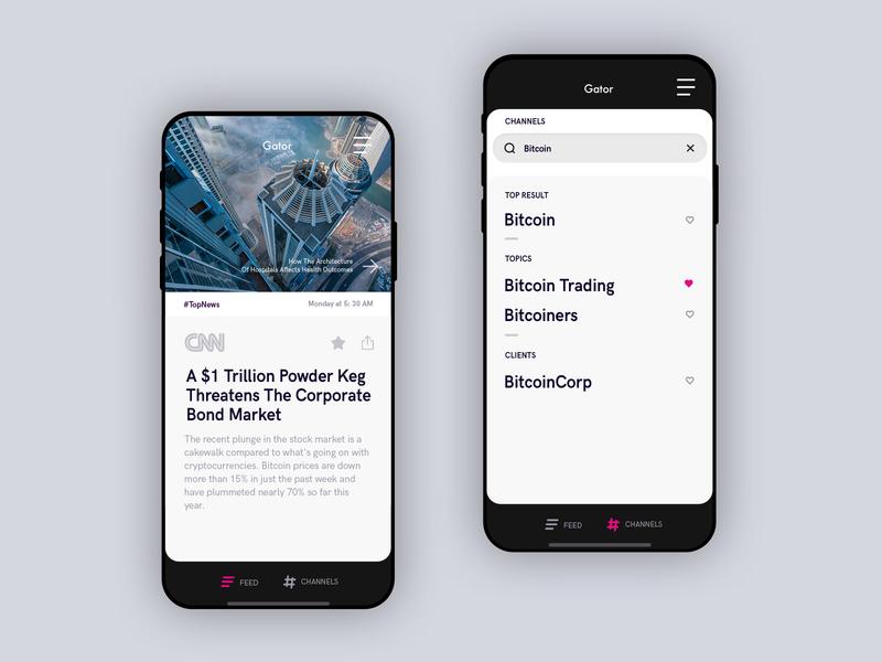 Gator - mobile news app ux ui news app mobile
