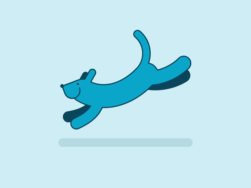 Blue Dog icon illustration blue dog dog