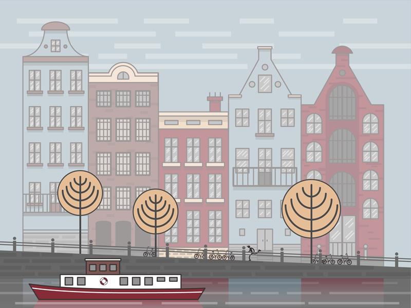 Amsterdam illustrator design illustration amsterdam