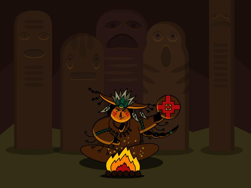 shaman illustration shaman