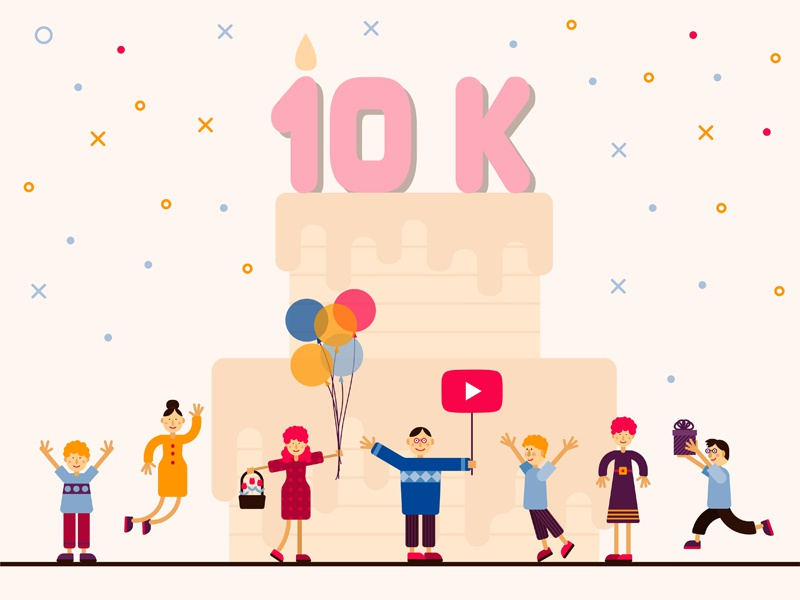 10k Followers on Youtube