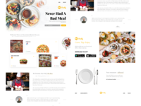 Food Delivery website concept