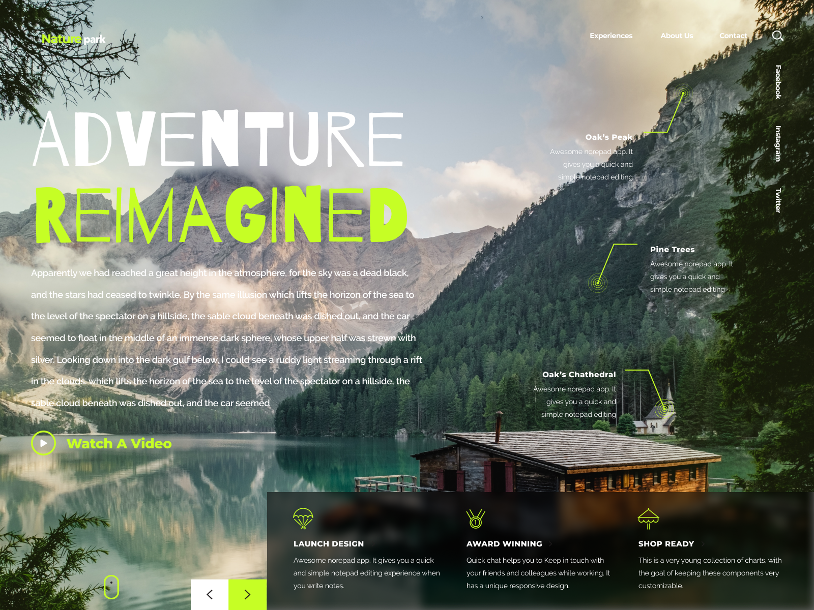Nature Park Landing Page by Commissioner of Design™ on Dribbble