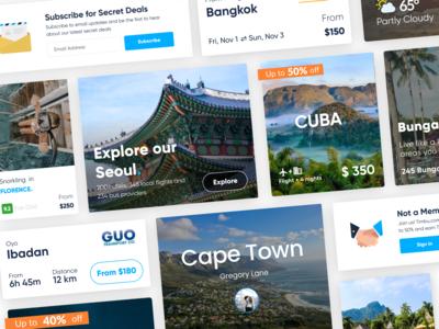 Visual Cards for a Tourism Platform