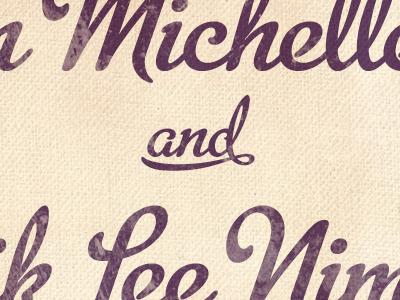 Wedding Text script metroscript wedding invitation typography