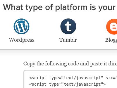 Platform setup wordpress tumblr blogger blue dashboard