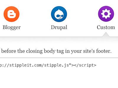 before the closing body tag blogger drupal custom setup stipple install icon gear
