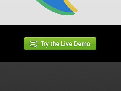 Try the Live Demo button green white proxima nova condensed pictos