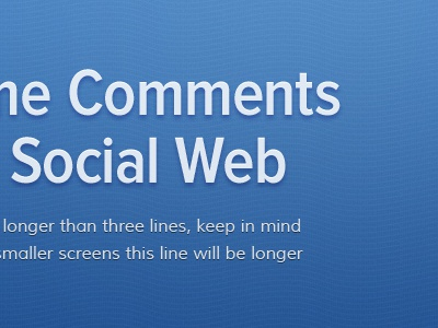 Comments Social Web blue wave pattern transparency callout hero header