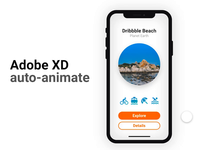 Adobe XD Auto-Animate Tourist App