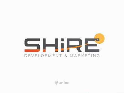 Shire Development & Marketing | Wordmark Logo Design gradient logo team wordmark marketing agency symbol icon brand vector identity minimalistic branding simple logo