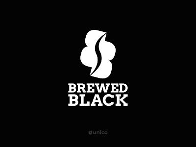 Brewed Black | Coffee Bean Logo Design cafe logo coffee logo branding design logo design simple logo elegant logo modern logo logo branding minimalistic identity brand vector symbol design