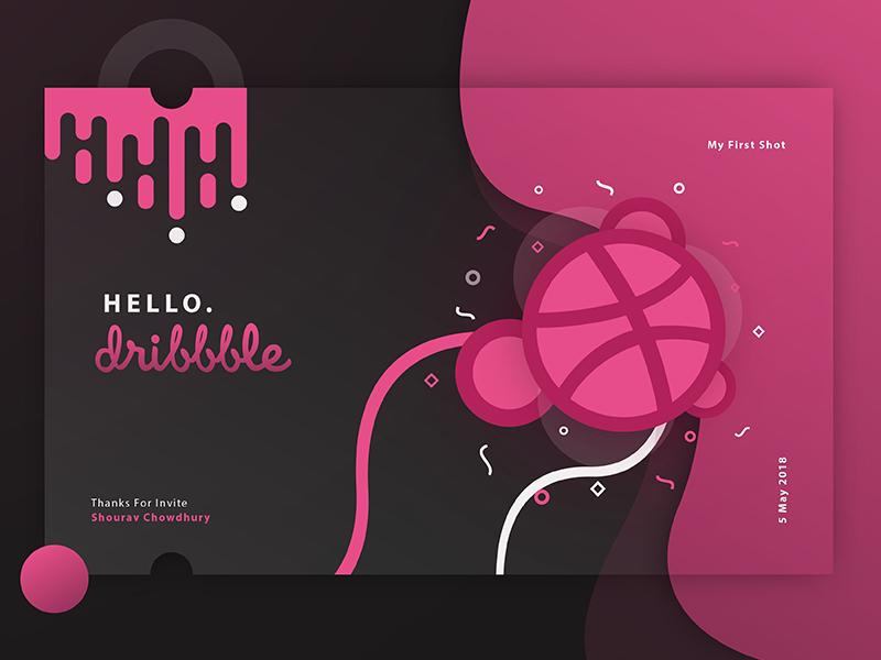 Hello Dribbble! illustrator photoshop graphicdesign dribble design vector debutshot firstshot