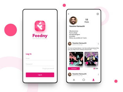 Feedny App UI