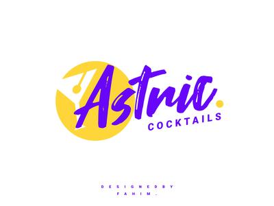 Astnic Cocktail Logo design