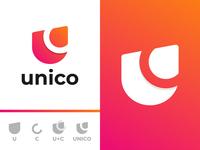 U letter Unico Logo