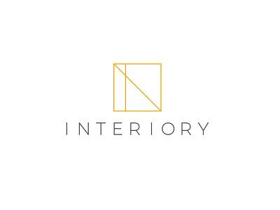Interiory symbol simple designer branding design brand flat minimalistic interior design architecture architect logo interior
