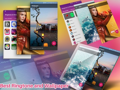 Best Ringtone And Wallpaper screenshot ui  ux design info graphic facebook cover ios screenshot playstore screenshot