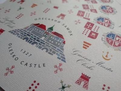 Postcard Olesko Castle