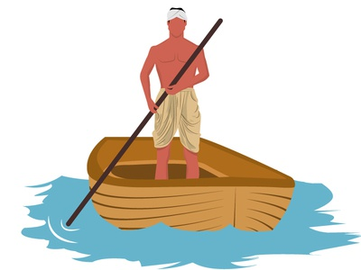 A man on boat