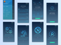 Cryptocurrency App | Multiple Screens