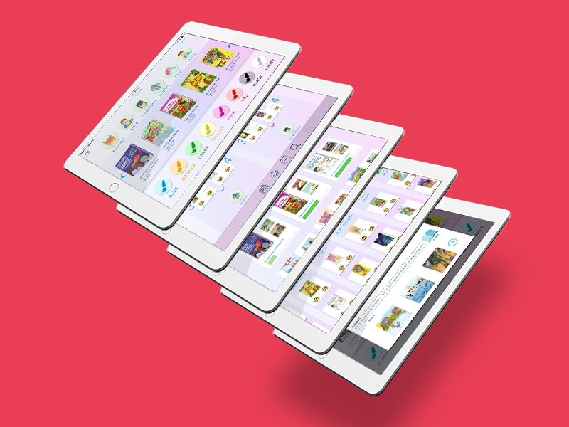 Children-Friendly iBooks tablet ui library ibooks ipad books kids child baby children