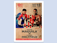 Boxing Poster: Holyfield Vs. Maguila