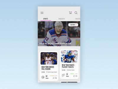 Sports Ticket App