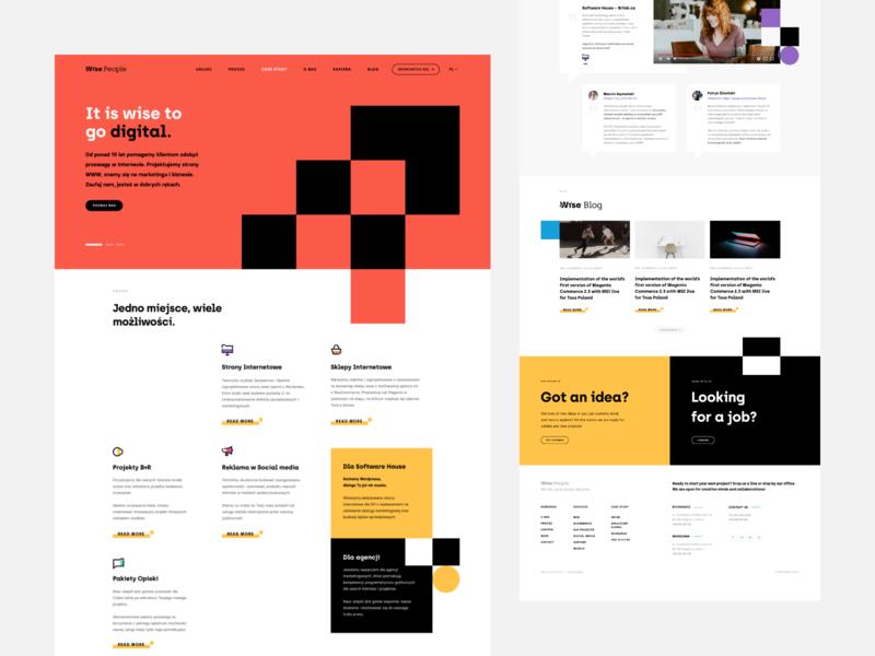 Wise People wise people webdesign website landing wordpress agency minimal clean ux ui web debut