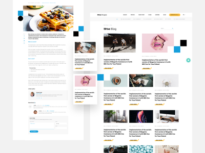 Wise Blog wordpress web design website post blog minimalism ux ui web clean wisepeople