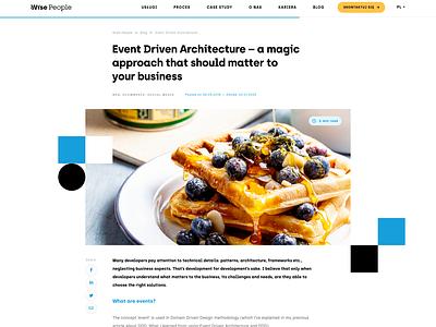 Wise Blog wordpress web design website post blog minimalism ux ui web clean wisepeople